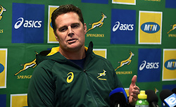 Cape Town-180806 Springbok coach Rassie Erasmus answering questions after announcing his team this morning.The Springbok will be playing the championship rugby against Argentina,Australia and New Zealand.photograph:Phando Jikelo/African News Agency/ANA