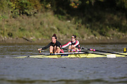 Crew: 55 - Zakers / Engelsman - Mortlake Anglian & Alpha Boat Club - W 2x Championship <br /> <br /> Pairs Head 2020