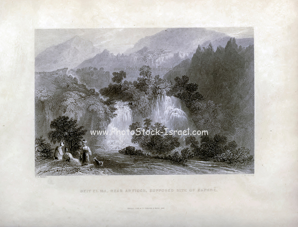 Beit El Ma Near Antioch, Supposed site of Daphne From Syria, the Holy Land, Asia Minor, etc. : by  Carne, John, 1789-1844; Bartlett, W. H. (William Henry), 1809-1854; Purser, William Publisher: London, Fisher [1839-40]
