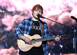 Ed Sheeran on stage during day two of Capital's Jingle Bell Ball 2017 with Coca-Cola at the O2 Arena, London.<br />Picture Credit Should Read: Doug Peters/EMPICS Entertainment