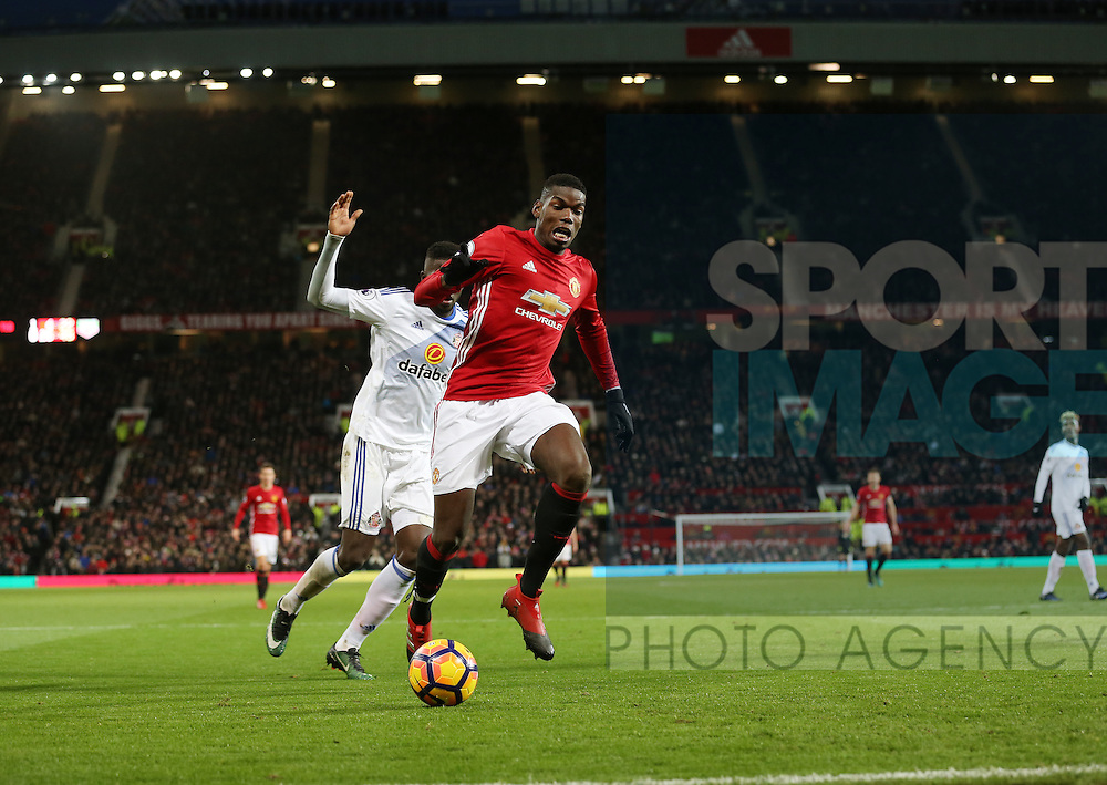 Manchester United's Paul Pogba in action during the Premier League match at Old Trafford Stadium, London. Picture date December 26th, 2016 Pic David Klein/Sportimage
