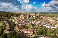 Arundel Cathedral is a landmark in the countryside of West Sussex. This church owes its existence to the generosity of Henry, fifteenth Duke of Norfolk, Earl Marshal  who commissioned the building in December 1868. Work commenced under the architect, Joseph Aloysius Hansom.