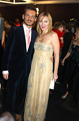 Actress KIM CATTRALL and MATTHEW WILLIAMSON at the Moet & Chandon Fashion Tribute 2005 to Matthew Williamson, held at Old Billingsgate, City of London on 16th February 2005.<br /><br />NON EXCLUSIVE - WORLD RIGHTS
