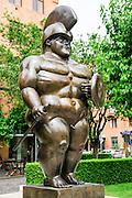 Armenia, Yerevan, Cafesjian Museum of Art and the Cascade. Fernando Botero, Colombia, Roman Warrior, 1986, bronze,