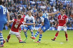 Peterborough United's Conor Washington scores the equalising goal - Photo mandatory by-line: Joe Dent/JMP - Mobile: 07966 386802 - 18/10/2014 - SPORT - Football - Peterborough - London Road Stadium - Peterborough United v Barnsley - Sky Bet League One