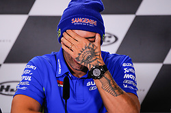 May 17, 2018 - Le Mans, France, France - Andrea Iannone attends a press conference of France MotoGP at Circuit Bugatti Le Mans. (Credit Image: © Gaetano Piazzolla/Pacific Press via ZUMA Wire)
