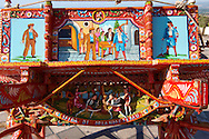 Sicilian folk art on a wooden cart .<br /> <br /> Visit our SICILY PHOTO COLLECTIONS for more   photos  to download or buy as prints https://funkystock.photoshelter.com/gallery-collection/2b-Pictures-Images-of-Sicily-Photos-of-Sicilian-Historic-Landmark-Sites/C0000qAkj8TXCzro
