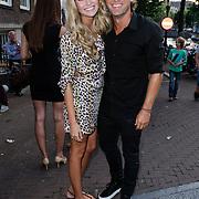 NLD/Amsterdam/20120706 - Verjaardagsfeest Gordon, John Ewbank en partner Kelly Weekers