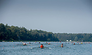Linz, Austria, Saturday,  24th Aug 2019, FISA World Rowing Championship, Regatta, General View down the course towards the start,<br /><br />[Mandatory Credit; Peter SPURRIER/Intersport Images]