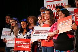 © Licensed to London News Pictures. 26/07/2016. London, UK. Labour leadership candidate OWEN SMITH speaking at a Labour leadership rally at Emmanuel Centre in London on 26 July 2016. Photo credit: Tolga Akmen/LNP