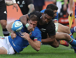 November 24, 2018 - Rome, Italy - Italy v New Zealand All Blacks - Rugby Cattolica Test Match.Italys Tommaso Benvenuti and New Zealands Waisake Naholo  at Olimpico Stadium in Rome, Italy on November 24, 2018. (Credit Image: © Matteo Ciambelli/NurPhoto via ZUMA Press)