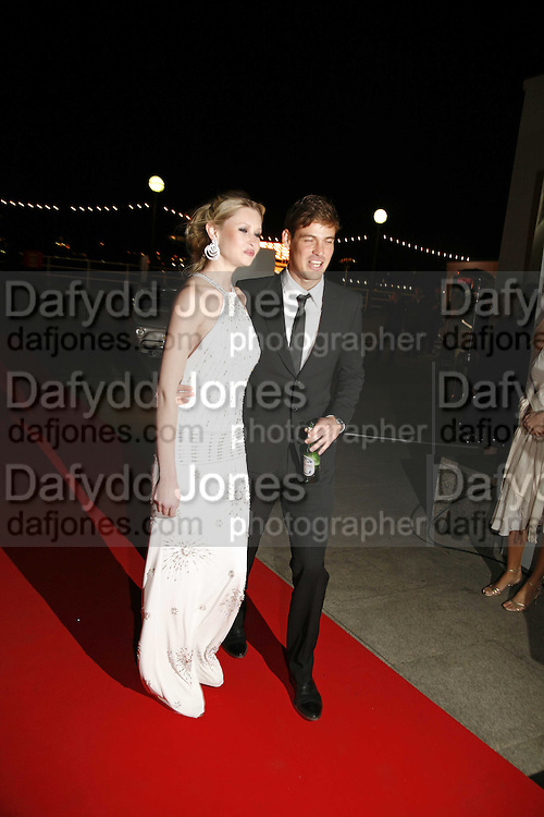 """Landi Swanepoel  AND RUBEN QUESADA , Party given by  Peroni  beer to announce the launch of it's remake of the classic 1960's film """"La Dolce Vita"""". The Design Museum, Shad thamesm 6 April 2006. ONE TIME USE ONLY - DO NOT ARCHIVE  © Copyright Photograph by Dafydd Jones 66 Stockwell Park Rd. London SW9 0DA Tel 020 7733 0108 www.dafjones.com"""