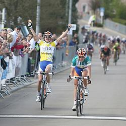 Sportfoto archief 2012<br /> Annemiek van Vleuten wint de grote prijs Nicolas Frantz voor Marianne Vos en Evelyn Arys