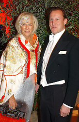 COUNT & COUNTESS FILIPPO GUERRINI-MARALDI at Andy & Patti Wong's Chinese New Year party to celebrate the year of the Rooster held at the Great Eastern Hotel, Liverpool Street, London on 29th January 2005.  Guests were invited to dress in 1920's Shanghai fashion.<br /><br />NON EXCLUSIVE - WORLD RIGHTS
