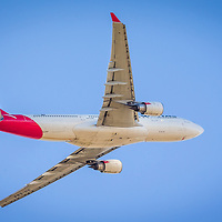 QANTAS flight QF762, operated here by VH-EBA, an Airbus A330-202, departs Perth Airport (PER) for Melbourne Airport (MEL).  Shot at Perth Airport Viewing Platform - © Phil Luyer - High Octane Photos