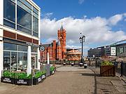 Pierhead building 1897 architect William Frame, Cardiff Railway Company, Cardiff Bay, Wales, UK - French-Gothic Renaissance style