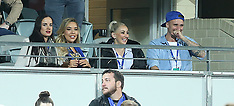 Natasha Webster watches the rugby with friends in Perth - 11 Aug 2018