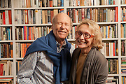 Author and photographer Phyllis Rose and her husband author and illustrator Laurent de Brunhoff in their New York library.