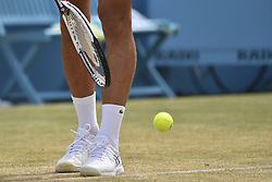 June 23, 2018 - London, England, United Kingdom - Novak Djokovic of Serbia serves during the semi final singles match on day six of Fever Tree Championships at Queen's Club, London on June 23, 2018. (Credit Image: © Alberto Pezzali/NurPhoto via ZUMA Press)