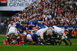February 2, 2020, Saint Denis, Seine Saint Denis, France: The Hooker of French Team JULIEN MARCHAND in action during the Guinness Six Nations Rugby tournament between France and  England at the Stade de France - St Denis - France.. France won 24-17 (Credit Image: © Pierre Stevenin/ZUMA Wire)
