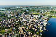 Nederland, Flevoland, Almere, 07-05-2018; Almere Stad met in de voorgrond de Esplanade en het Weerwater, Almere Centrum op het tweede plan, Oostvaarderplassen en IJsselmeer in het verschiet.<br /> City centre Almere.<br /> luchtfoto (toeslag op standard tarieven);<br /> aerial photo (additional fee required);<br /> copyright foto/photo Siebe Swart