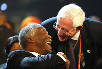 FOOTBALL - MISCS - WORLD CUP 2010 - FINAL DRAW - 4/12/2009 - PHOTO ANDREW BOYERS / ACTION IMAGES / DPPI - <br /> EX SOUTH AFRICA PRESIDENT THABO MBEKI WITH ENGLISH FOOTBALL ASSOCIATION PRESIDENT DAVID TRIESMAN - AMBIANCE - PORTRAIT
