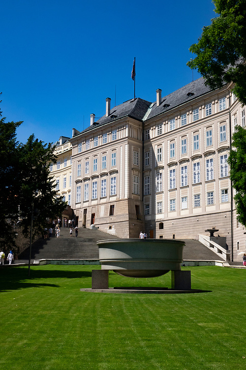 Side view of the Prague Castle and grounds. Currently the official residence of the president of the Czech Republic.