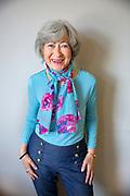 Happy Senior Woman Dressed Hip