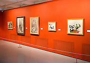 Pablo Picasso paintings Kode 4 art gallery, Bergen, Norway - copyright status of artworks not known by photographer, 'Nature Morte' 1939 by Pablo Picasso to the right