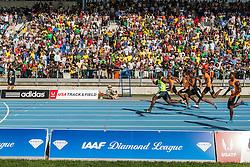 Nesta Carter, Jamaica, wins men's 100 meter dash, adidas Grand Prix Diamond League track and field meet