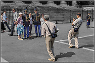 DAY TRIPPER - PARIS PARADE - people street photo art by Paul Williams taken on 15th July 2007 of day trippers watching the annual Bastille parade in Paris .<br /> <br /> Visit our REPORTAGE & STREET PEOPLE PHOTO ART PRINT COLLECTIONS for more wall art photos to browse https://funkystock.photoshelter.com/gallery-collection/People-Photo-art-Prints-by-Photographer-Paul-Williams/C0000g1LA1LacMD8