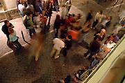 People have fun arround the bars neighborhood called Barrio Alto.