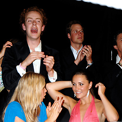 Left to right, ASTRID HARBORD and KATE MIDDLETON and Prince Williamat the 2008 Boodles Boxing Ball in aid of the charity Starlight held at the Royal Lancaster Hotel, London on 7th June 2008.<br /> <br /> NON EXCLUSIVE - WORLD RIGHTS