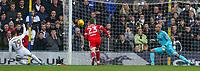 Leeds United's Pablo Hernandez scores the opening goal <br /> <br /> Photographer Alex Dodd/CameraSport<br /> <br /> The EFL Sky Bet Championship - Leeds United v Middlesbrough - Sunday 19th November 2017 - Elland Road - Leeds<br /> <br /> World Copyright © 2017 CameraSport. All rights reserved. 43 Linden Ave. Countesthorpe. Leicester. England. LE8 5PG - Tel: +44 (0) 116 277 4147 - admin@camerasport.com - www.camerasport.com