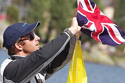 Ben Ainslie GBR, TEAMORIGIN. St Moritz Match Race 2010. World Match Racing Tour. St Moritz, Switzerland. 2nd September 2010. Photo: Ian Roman/WMRT.