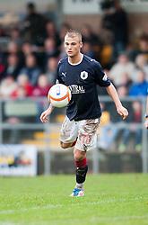 Falkirk's Kallum Higginbotham..Annan Athletic 0 v 3 Falkirk. Semi Final of the Ramsdens Cup, 9/10/2011..Pic © Michael Schofield.