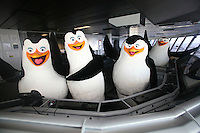Launch of Royal Caribbean International's newest ship Allure of the Seas..Dreamworks' Penguin characters on the ship's bridge.