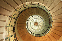 spiral staircase in the Eckmuhl lighthouse, Penmarc'h, Brittany<br /> <br /> <br /> <br /> Photograph by Owen Franken