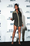 June 30, 2012-Los Angeles, CA : Recording Artist Brandi attend the 2012 BET Awards- Media Room held at the Shrine Auditorium on July 1, 2012 in Los Angeles. The BET Awards were established in 2001 by the Black Entertainment Television network to celebrate African Americans and other minorities in music, acting, sports, and other fields of entertainment over the past year. The awards are presented annually, and they are broadcast live on BET. (Photo by Terrence Jennings)