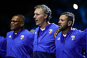 Bernard Lama (France 98), Laurent Blanc (France 98), Vincent Candela (France 98) during the 2018 Friendly Game football match between France 98 and FIFA 98 on June 12, 2018 at U Arena in Nanterre near Paris, France - Photo Stephane Allaman / ProSportsImages / DPPI