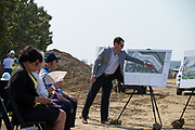 McCarthy Ranch hosts their groundbreaking ceremony for the McCarthy Creekside project at McCarthy Ranch in Milpitas, California, on August 18, 2017. (Stan Olszewski/SOSKIphoto)