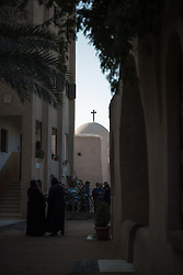 17 December 2016, Cairo, Egypt: Late afternoon life at the Coptic Orthodox Monastery of the Holy Virgin Mary, Elsourian.
