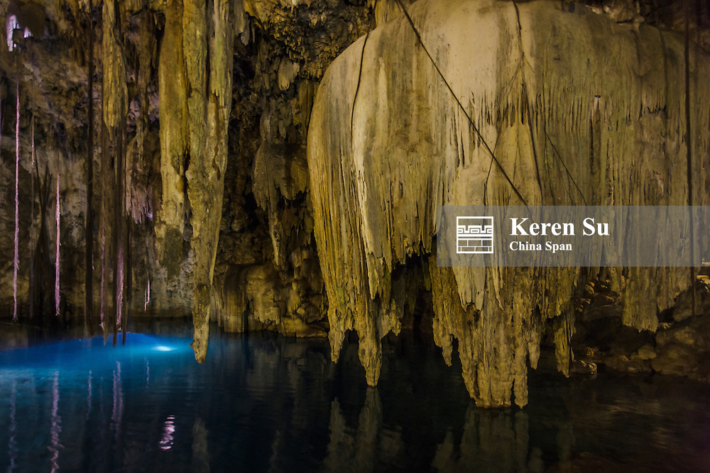Cenote Dzitnup, on the Yucatan Peninsula near the city of Valladolid, Mexico