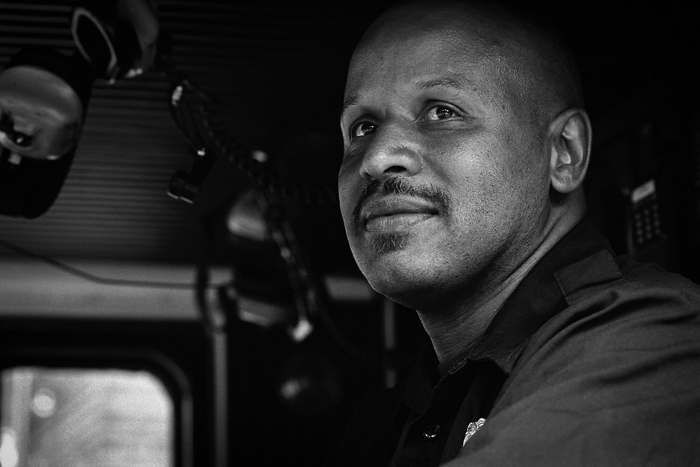 Engineer GREGORY SMITH, Denver Fire Department for 911 Families campaign.