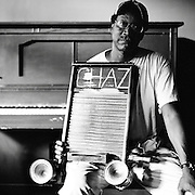 NEW ORLEANS, LA – OCTOBER 28, 2009: New Orleans acoustic blues musician Washboard Chaz Leary in The Spotted Cat Music Club.