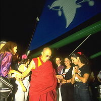 Dalai Lama visiting RAINBOW WARRIOR during UNCED, Rio de Janeiro,  Brazil.   Accession #: 0.92.239.004.11