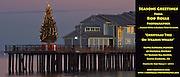 10 December 2013-Santa Barbara, CA: Christmas Tree On Stearns Wharf, The Santa Barbara Museum of Natural History Ty Warner Sea Center in Santa Barbara, CA.   The Ty Warner Sea Center is an interactive marine education facility.  Photo By Rod Rolle