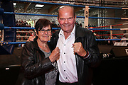 BOXEN: EC Boxing, Hamburg, 06.07.2019<br /> Weltergewicht IBO-Weltmeisterschaft: Sebastian Formella (GER) - Tulani Mbenge (RSA): Jürgen Blin und Frau<br /> © Torsten Helmke