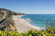Waterfront homes Along the Coast at Treasure Island Beach in Laguna Beach California