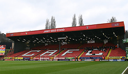 General view of the Jimmy Seed Stand stand prior to kick-off